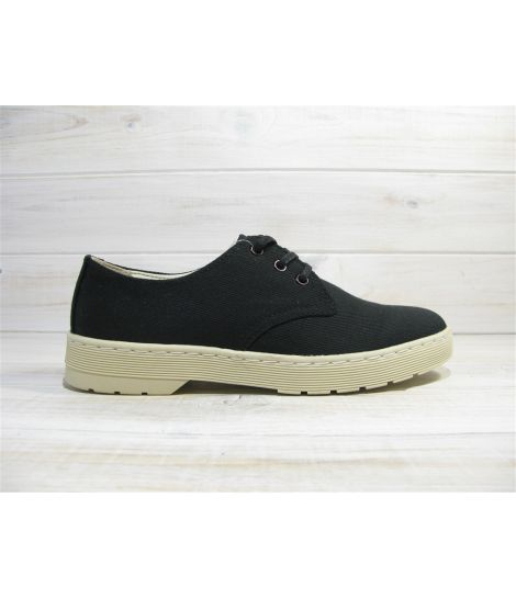 dr martens delary black overdied twill